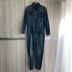 Zara blue denim Jumpsuit